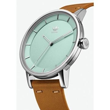 Adidas Damen Analog Quarz Uhr mit Leder Armband Z08-2922-00 - 2