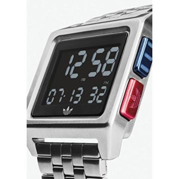 Adidas Herren Digital Uhr mit Edelstahl Armband Z01-2924-00 - 2