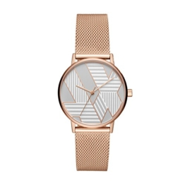 Armani Exchange Damen Analog Quarz Uhr mit Edelstahl Armband AX5550 - 1