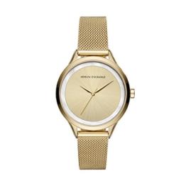 Armani Exchange Damen Analog Quarz Uhr mit Edelstahl Armband AX5601 - 1
