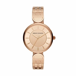 Armani Exchange Damen-Armbanduhr Analog Quarz One Size, rosé, rosé - 1