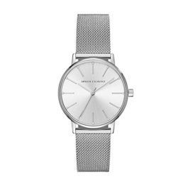 Armani Exchange Damen-Armbanduhr Quarz One Size, silberfarben, Silber - 1