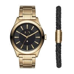Armani Exchange Herren Analog Quarz Uhr mit Edelstahl Armband AX7104 - 1