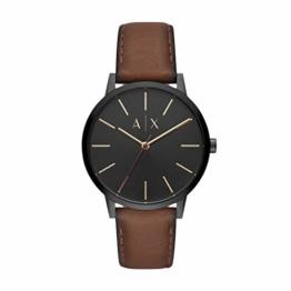 Armani Exchange Herren Analog Quarz Uhr mit Leder Armband AX2706 - 1