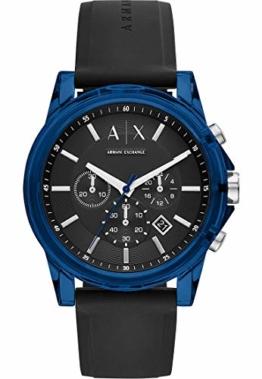 Armani Exchange Herren-Armbanduhr Analog Quarz One Size, schwarz, schwarz - 1