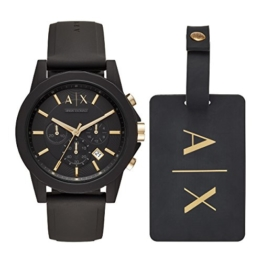 Armani Exchange Herren Chronograph Quarz Uhr mit Silikon Armband AX7105 - 1