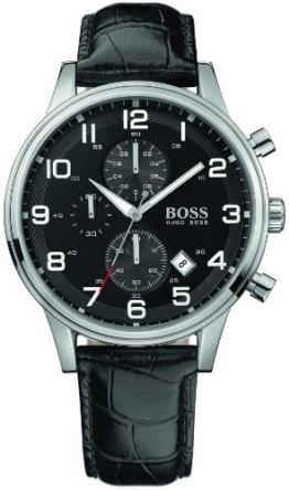 BOSS Herrenuhr Leder/Sonstige Chronograph Quarzwerk Leder 1512448 - 1