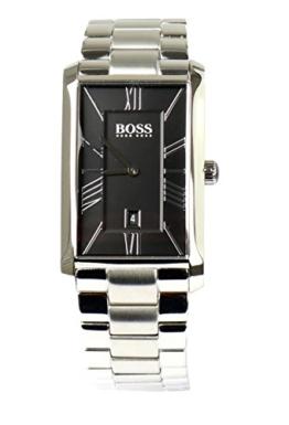BOSS Hugo Herren Armbanduhr Uhr Watch 1513439 Edelstahl Silber Schwarz - 1