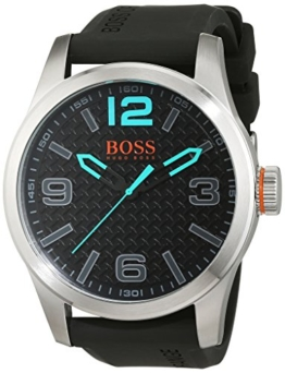 BOSS Orange Herren Analog Quarz Uhr mit Silikon Armband 1513377 - 1
