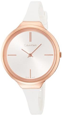 Calvin Klein Damen Analog Quarz Smart Watch Armbanduhr mit Silikon Armband K4U236K6 - 1