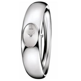 Calvin Klein Damen Analog Quarz Uhr mit Edelstahl Armband K1Y22120 - 1