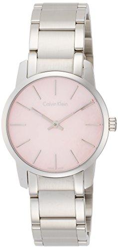 Calvin Klein Damen Analog Quarz Uhr mit Edelstahl Armband K2G2314E - 1