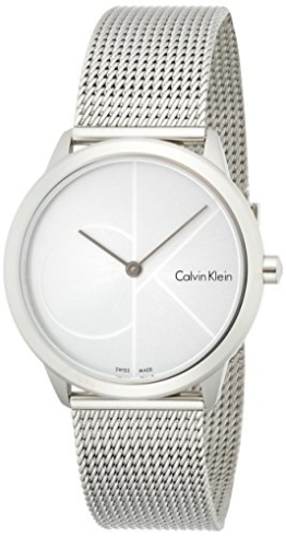 Calvin Klein Damen Analog Quarz Uhr mit Edelstahl Armband K3M2212Z - 1