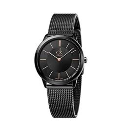 Calvin Klein Damen Analog Quarz Uhr mit Edelstahl Armband K3M22421 - 1