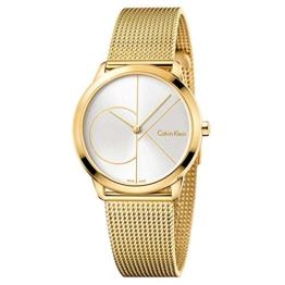Calvin Klein Damen Analog Quarz Uhr mit Edelstahl Armband K3M22526 - 1