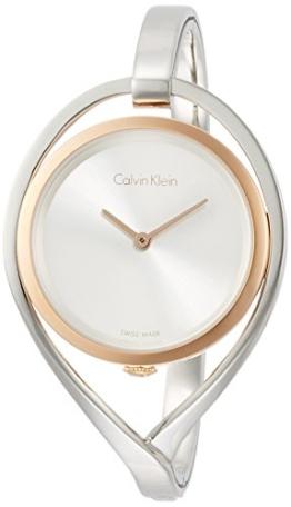 Calvin Klein Damen Analog Quarz Uhr mit Edelstahl Armband K6L2SB16 - 1