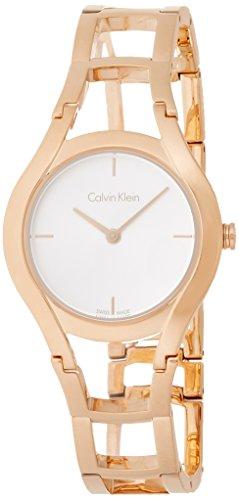 Calvin Klein Damen Analog Quarz Uhr mit Edelstahl Armband K6R23626 - 1