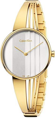 Calvin Klein Damen Analog Quarz Uhr mit Edelstahl Armband K6S2N516 - 1
