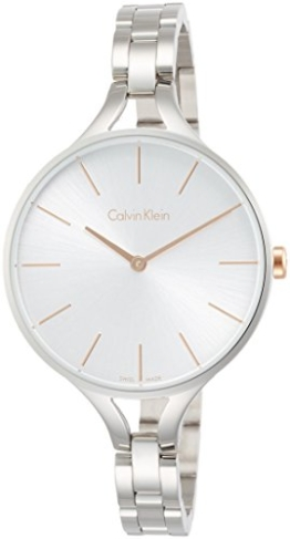 Calvin Klein Damen Analog Quarz Uhr mit Edelstahl Armband K7E23B46 - 1