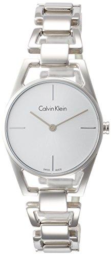 Calvin Klein Damen Analog Quarz Uhr mit Edelstahl Armband K7L23146 - 1
