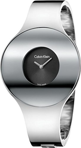 Calvin Klein Damen Analog Quarz Uhr mit Edelstahl Armband K8C2M111 - 1