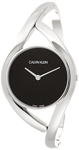 Calvin Klein Damen Analog Quarz Uhr mit Edelstahl Armband K8U2M111 - 1