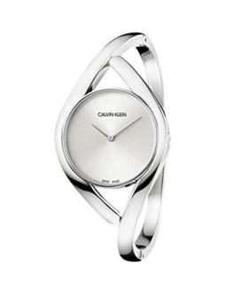 Calvin Klein Damen Analog Quarz Uhr mit Edelstahl Armband K8U2M116 - 1