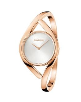 Calvin Klein Damen Analog Quarz Uhr mit Edelstahl Armband K8U2M616 - 1