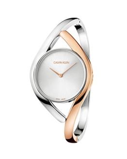 Calvin Klein Damen Analog Quarz Uhr mit Edelstahl Armband K8U2MB16 - 1