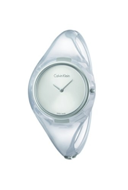 Calvin Klein Damen Analog Quarz Uhr mit Harz Armband K4W2MXK6 - 1