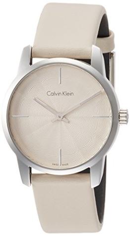 Calvin Klein Damen Analog Quarz Uhr mit Leder Armband K2G231XH - 1