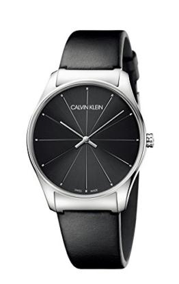 Calvin Klein Damen Analog Quarz Uhr mit Leder Armband K4D211CY - 1