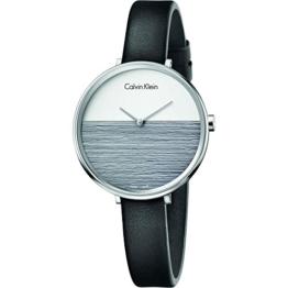 Calvin Klein Damen Analog Quarz Uhr mit Leder Armband K7A231C3 - 1