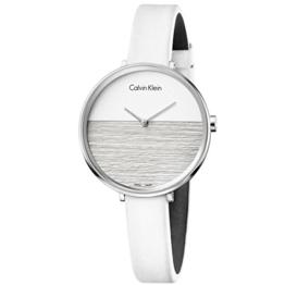 Calvin Klein Damen Analog Quarz Uhr mit Leder Armband K7A231L6 - 1