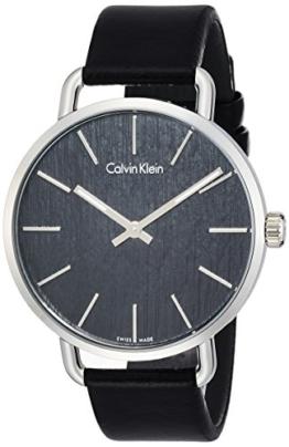 Calvin Klein Damen Analog Quarz Uhr mit Leder Armband K7B211C1 - 1
