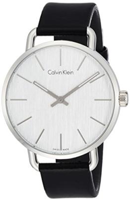 Calvin Klein Damen Analog Quarz Uhr mit Leder Armband K7B211C6 - 1