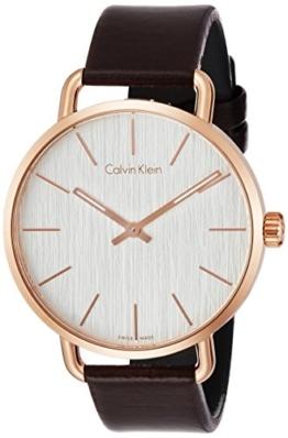 Calvin Klein Damen Analog Quarz Uhr mit Leder Armband K7B216G6 - 1