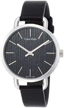 Calvin Klein Damen Analog Quarz Uhr mit Leder Armband K7B231C1 - 1