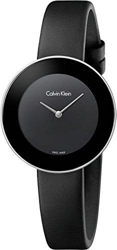 Calvin Klein Damen Analog Quarz Uhr mit Leder Armband K7N23CB1 - 1