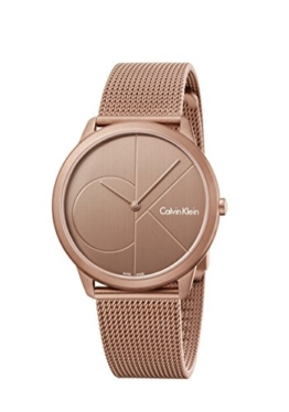Calvin Klein Damen Analog Quarz Uhr mit Vergoldet Armband K3M11TFK - 1