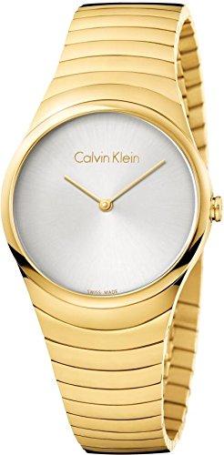 Calvin Klein Damen Analog Quarz Uhr mit Vergoldet Armband K8A23546 - 1