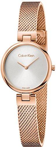 Calvin Klein Damen Analog Quarz Uhr mit Vergoldet Armband K8G23626 - 1