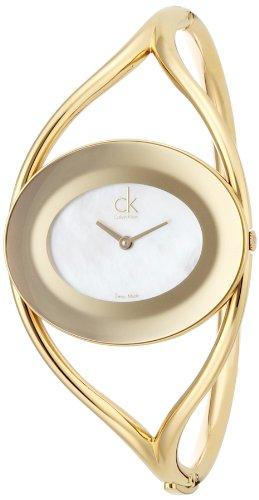 Calvin Klein Damen-Armbanduhr Analog Quarz Edelstahl K1A2391G - 1