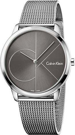 Calvin Klein Herren Analog Quarz Uhr mit Edelstahl Armband K3M21123 - 1