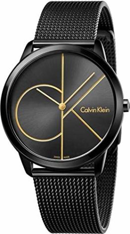 Calvin Klein Herren Analog Quarz Uhr mit Edelstahl Armband K3M214X1 - 1