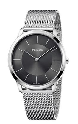 Calvin Klein Herren Analog Quarz Uhr mit Edelstahl Armband K3M2T124 - 1