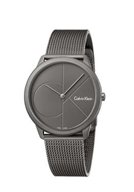 Calvin Klein Herren Analog Quarz Uhr mit Edelstahl Armband K3M517P4 - 1