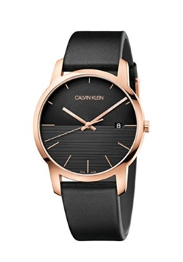 Calvin Klein Herren Analog Quarz Uhr mit Leder Armband K2G2G6CZ - 1
