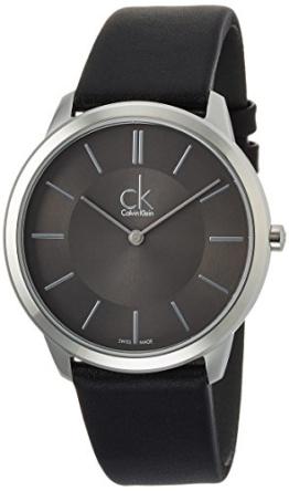 Calvin Klein Herren Analog Quarz Uhr mit Leder Armband K3M211C4 - 1