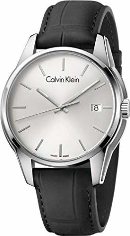 Calvin Klein Herren Analog Quarz Uhr mit Leder Armband K7K411C6 - 1